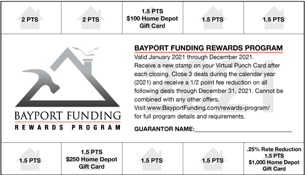 Bayport Virtual Punch Card